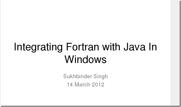 fortran and java